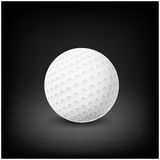 Golfball realistic vector. Image of single golf equipment, ball.  illustration  on dark mesh  background. Royalty Free Stock Photo