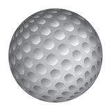 Golfball realistic vector. Image of single golf equipment, ball illustration  on white background Stock Photography