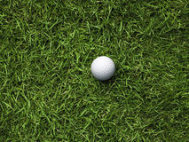Golfball_on_rough Royalty Free Stock Photography