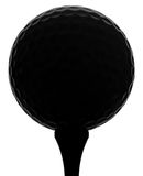 Golfball Silhouette. Golfball and tee silhouette on white background Royalty Free Stock Images