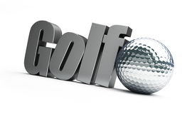 Golfball silver Royalty Free Stock Photography