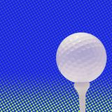 Golfball on spot background Royalty Free Stock Images