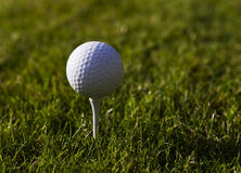 Golfball on Tee Royalty Free Stock Images