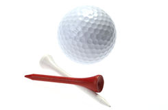 Golfball and tees Royalty Free Stock Photos