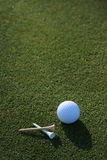 Golfball & Tees Early Morning Royalty Free Stock Images