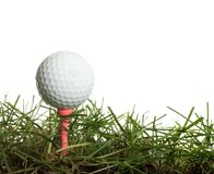 golfball trawa Zdjęcia Royalty Free