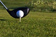 Golfball und Fahrer lizenzfreie stockfotos
