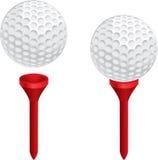 Golfball und T-Stück Stockfotografie