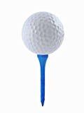 Golfball und T-Stück Stockfotos