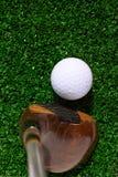 Golfball und Treiber Lizenzfreie Stockfotografie
