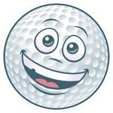 Golfball-Zeichentrickfilm-Figur Stockbild