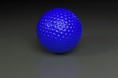 golfballblueongrey Στοκ εικόνα με δικαίωμα ελεύθερης χρήσης