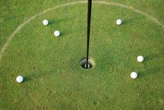Golfballen Royalty-vrije Stock Foto's