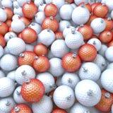 Golfballen, Kerstmisballen, snuisterijen stock illustratie