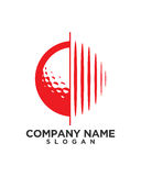 Golfballfinanzbetriebsversicherungszusammenfassung Lizenzfreies Stockbild