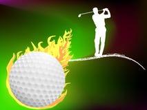 Golfballhintergrund lizenzfreie abbildung