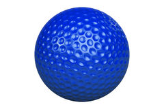 GolfballIsolatedBlue Photographie stock libre de droits