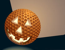 GolfballPumpkin Royalty Free Stock Photo