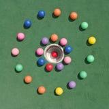 Golfballs en círculo Imagen de archivo libre de regalías