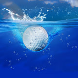 Golfballspritzen vektor abbildung