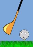 Golfballwarteanschlag vektor abbildung