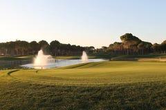 Golfbana Arkivfoton