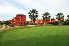 Golfbana av Islantilla, Huelva, Spanien Royaltyfri Bild