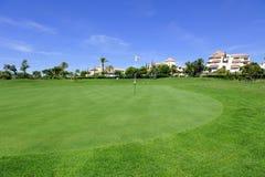 Golfbana för El Rompido, Andalusia, Spanien Royaltyfria Foton