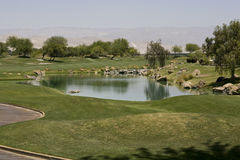Golfbana för Gary spelarehäfte Arkivfoton