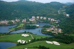 Golfbana för OKTOBER östlig Shenzhen Meisha vinddal Arkivbild
