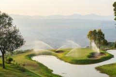 Golfbana i öppen grop Royaltyfri Fotografi