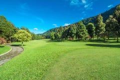 Golfbana i Bali Royaltyfri Foto