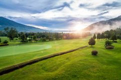 Golfbana i Bali Arkivfoton