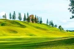 Golfbana i bygden Arkivfoto