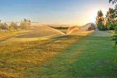 Golfbana i bygden Fotografering för Bildbyråer