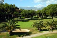 Golfbana Marbella, Spanien. Arkivbild