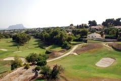 Golfbana på CostaBlancaen Royaltyfri Bild