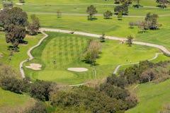 Golfbana som ses från över, Santa Teresa Park, San Jose, Kalifornien fotografering för bildbyråer