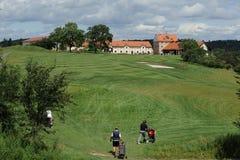 Golfbana - Tjeckien royaltyfria bilder