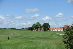 Golfbana - Tjeckien arkivfoto