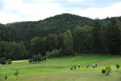 Golfbana - Tjeckien fotografering för bildbyråer
