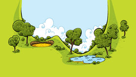 Golfbanadal Arkivbild