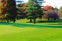 Golfbanagräsplan Royaltyfri Bild