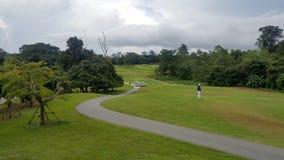 golfbanalandskap i det goodday Arkivfoton