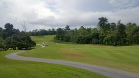 golfbanalandskap i det goodday Arkivfoto