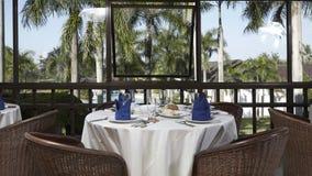 Golfbanarestaurang, Lombok, Indonesien royaltyfri bild