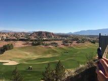 Golfbanasikt Royaltyfri Bild