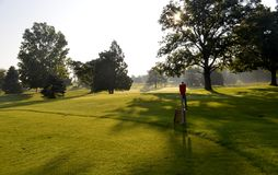 Golfbanautsikt Arkivbild