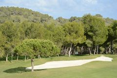 Golfbanor i den Orihuela costaen Arkivfoto