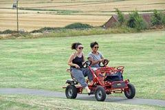 Golfbarnvagnvagn Royaltyfri Bild